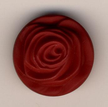 Rose, Rot (Glas)  23mm