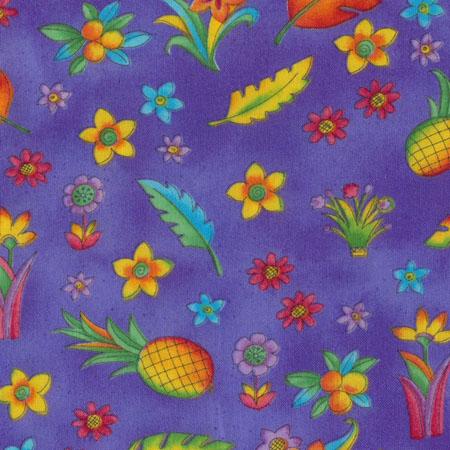 Zippy Jungle, Blumen, Blätter & Ananas, Lila