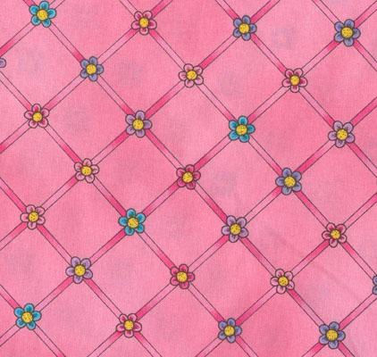 Trellis Muster, Pink