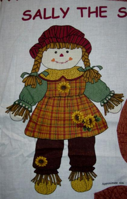 Sally the Scarecrow Doll, Puppe, Panel