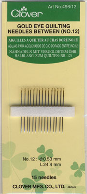 Gold Eye Quilting Needles Betweens No. 12