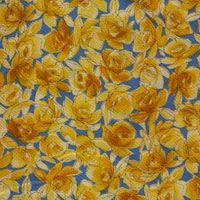 Gelbe Rosen auf Blau