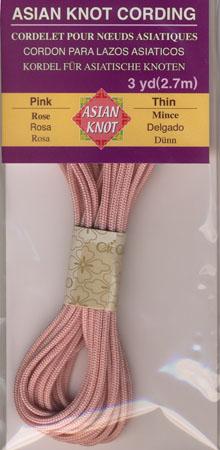 Asian Knot Kordel, Rosa, dünn