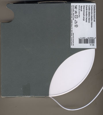 Elastic Kordel 2,5mm Weiß