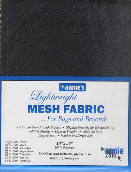Mesh Fabric - Netzstoff Schwarz
