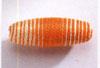 Häkelperle Olive, Orange - 40mm