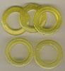 Taschenringe, Taschenösen, Gelb-Transparent, 28mm
