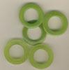 Taschenringe, Taschenösen, Grün-Transparent, 28mm