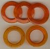 Taschenringe, Taschenösen, Orange-Transparent, 28mm