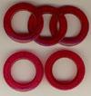 Taschenringe, Taschenösen, Pink-Transparent, 28mm