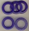 Taschenringe, Taschenösen, Blau-Transparent, 28mm